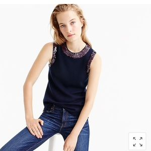 J.Crew Merino Shell with Sequins